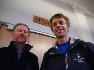 De båda idrottslärarna Mikael Söderqvist och Johan Nilsson ser bara fördelar med föreläsningen mot droger. – Kritiken bygger på gammal fakta som inte är relevant längre, menar Mikael Söderqvist.
