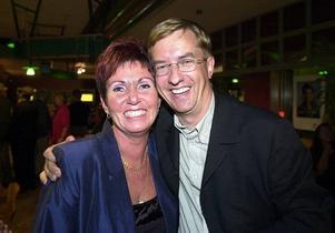 Valet 2002. Ragnwi Marcelind och Lennart Sjögren var nöjda trots att framgången från det tidigare valet uteblev den här gången.