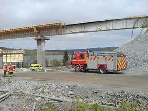Här rasade delar av bron.
