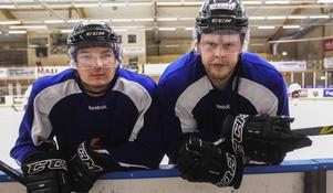 Linus Persson och Alexander Wadlund tror på en jämn och hård alletta.