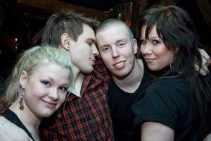 Konrad Lotten, Gustav, Becca och Nicky.