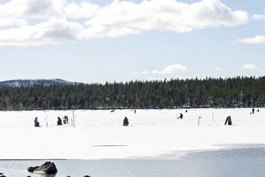 Strålande sol och en kall vind härskade på den stora sjön Målingen under helgens pimpeltävling med 139 tävlande.