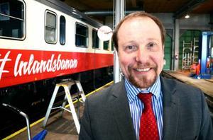 Otto Nilsson, vd Inlandsbanan AB, har stora planer inför 2017. Inlandet ska domineras av godstrafik, om han får som han vill.