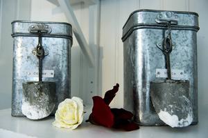 Förvaring av tvättmedel.
