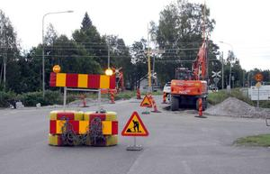 En ny cykelväg blir det bland annat vid Bölevägen. Projektet beräknas vara klart i slutet av oktober eller början av november.