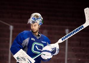 Eddie Läck under ett träningspass med Vancouver.