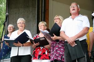 Kören Tonflödet bjöd både på allsång och skönsång under kvällen.