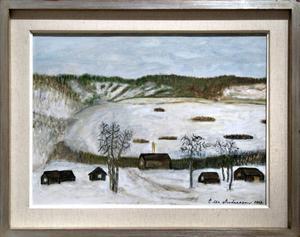 Vårvinter i Fryxås, av Edla Andersson från Ljusne.