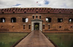 Fort Jefferson byggdes för att kontrollera sjötrafiken.