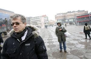 Mats Pierrou, projektledare för rondellbygget.