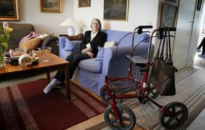 Veckan efter fallolyckan har 88-åriga Ann-Mari Kaplan fortfarande ont i kroppen och känner sig vinglig.