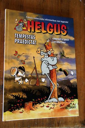 Helgus är Hälge på latin! Ett exemplar av presentboken förvaras i Vatikanens bibliotek i Rom.