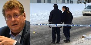 En man i 25-årsåldern är död efter skjutningarna i Kvarnsveden sent på fredagskvällen. Foto: Mikael Hellsten/Jerry Brodin