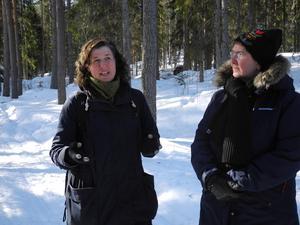 Kerstin granat, till vänster, projektledare samt landshövding Ylva Thörn.