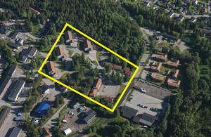 I det här området på LV5 vill kommunen tillåta att  en omvandling till bostäder. Bild: Sundsvalls kommun