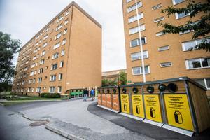 Återvinningsstation i Hovsjö. Foto: Edis Potori/arkiv