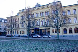 Fastigheten på Bankgatan som har Nordea som hyresgäst.