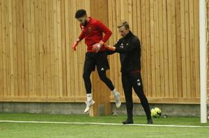 Andersson och Mohlin under fredagens träning.