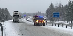 Trafiken stod stilla söderut under räddningsarbetet.