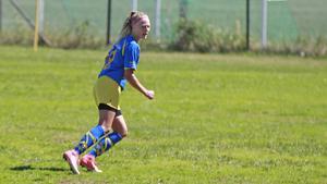 Emelie Bernhardsson leder skytteligan i division 3 med sina elva mål för Årsunda.
