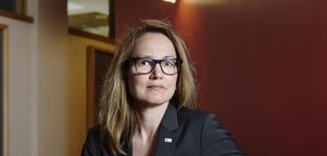 Dramatens styrelseordförande Ulrika Årehed Kågström säger att styrelsen kommer att ha samtal med teaterns medarbetare under veckan som kommer. Bild. Pi Frisk/SvD/TT