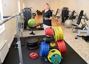 Anna Eljas morgontränar i På G:s nya träningslokal i Björbo.
