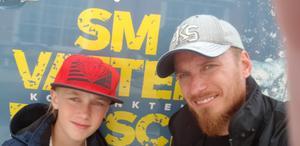 Adrian och Richard Andersson vid SM 2018, då de placerade sig på 10:e respektive 16:e bästa tiden i sina klasser.