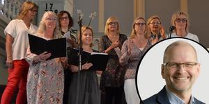 Mats-Olof Liljegren har arrangerat om några kvinnliga artisters låtar för en körkonsert med kvinnokören Gott och blandat. Foto: Rolf Jonsson / Lennart Gustafson (bilden är ett montage)