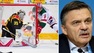 Internationella ishockeyförbundets president René Fasel. Bild: Bildbyrån/TT Nyhetsbyrån.
