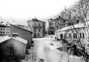Lindgrenska arbetsinrättningen väst på stan. Här lever och arbetar många av Sundsvalls fattiga. Bild: Maria Kihlbaum/Sundsvalls museum