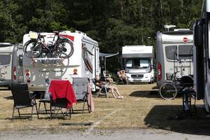 De flesta tog det lugnt på campingen under dagen innan kvällens GP-tävling startade.