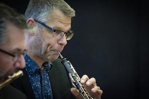 Jesper Harryson kom till barndomsstaden med Kungliga Filharmonikernas Blåsarkvintett i söndags och gjorde en populär konsert. Foto: Lennye Osbeck