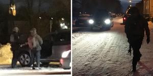 Poliser med förstärkningsvapen deltog i en insats på en plats i Sundsvall.