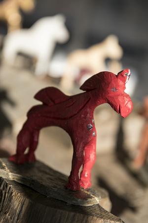 Örjan är en av hästarna från Kent Mårtenssons utställning på Konsthuset i Åre.