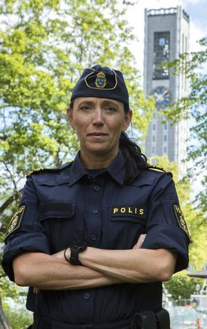Linda Hedmark, biträdande lokalpolisområdeschef i Västerås. Foto: Polisen