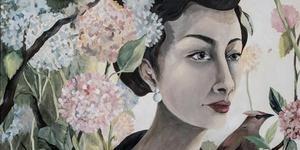 """""""Along the Silk Road"""" heter tavlan av Lisa Ling som både är curator och en av utställarna på Konstsommar på Rånäs slott.(Bilden är beskuren.)"""