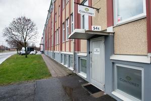 Vincontoret inryms i en källarlokal vid södra infarten till Örebro.