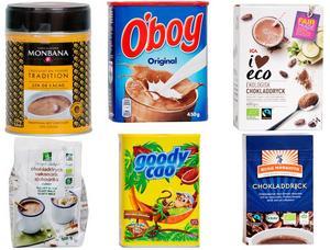 Sex olika chokladdryckspulver har testats.