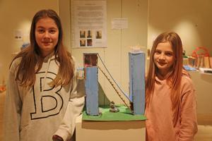 Ella Hultin och Ebba Svedman deltar i årets tekniktävling med sitt verk