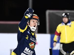 Joakim Bergman fick visserligen jubla efter ett straffmål. Men till sist blev det ändå en ny förlust för Falu BS.