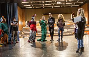 Sammanlagt 23 elever läser kursen scenisk gestaltning, och medverkar i uppsättningen av Robin Hood på Slottegymnasiet.