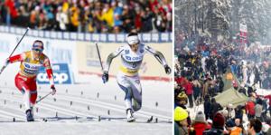 Världscupen i Holmenkollen brukar attrahera många – men i år blir det publiklöst. Bilder: TT.