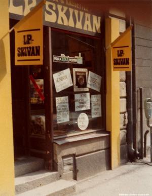LP-skivan anno 1974 på Köpmangatan. Bildkälla: Örebro stadsarkiv