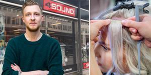 Ska 4Sound, vars ägarbolag har gått i konkurs, också bli en frisersalong, som Leanders Antikvariat? William Holm hoppas på en lösning för musikaffären. Foto: Mats Adolfsson/TT