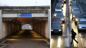 Daniel Jacobson tycker att kommunens satsningar på cykelöverfarter är ett feltänk då det är mycket säkrare för såväl gående som cyklister att använda tunnlar och broar. Bilder: Mårten Englin / Kenneth Fahlberg