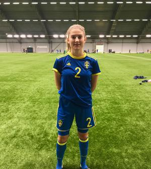 Klara Spångberg i landslaget. Foto: Privat