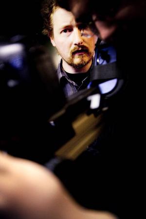 Filip Tegstedt under inspelningen av filmen