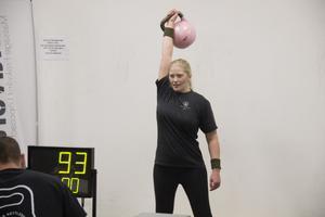 Sandra Roghe var nöjd med tävlingen. Hon slog nytt personligt rekord.
