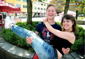 Nicklaes Malmsten och Klara Aune blir yngst bland visionärerna i Visionspalatset på Flanaden.