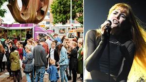 Montage. Vänster: Vegfest 2017 utanför Växhuset. Höger: Artisten Dotter, som deltog i senaste upplagan av Melodifestivalen. Bild: Martin Bohm/TT